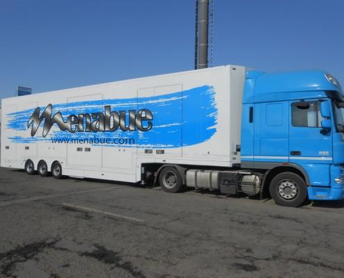 S.Rimorchio trasporto vetture, verniciatura personalizzata