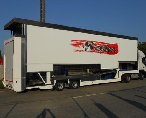 S.Rimorchio trasporto vetture, rampa di carico posteriore